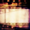Old grunge film strip background and texture Stock Photo