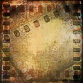 Old grunge film strip background and texture Stock Images
