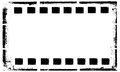 Old grunge film strip frame background Royalty Free Stock Photo