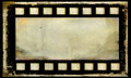 Old grunge film strip frame background bank Royalty Free Stock Photos