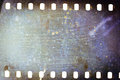 Old grunge filmstrip blank grained moldy film strip texture background Royalty Free Stock Photos