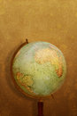 Old grunge globe vintage on background Stock Photo