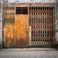 Old grunge iron gate rusted Royalty Free Stock Images