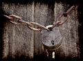 Old grunge lock and chain Stock Photography