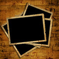 Old grunge paper frames on the ancient background Stock Photos