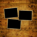 Old grunge paper frames on the ancient background Royalty Free Stock Photos