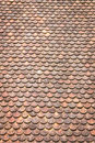 Old grunge red and orange weathered roof tiles texture backgroun Royalty Free Stock Photo