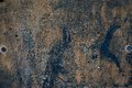 Old grunge rough oxidazed iron surface metal Royalty Free Stock Photo