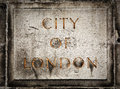 Old grunge stone board with City of London text Royalty Free Stock Photo
