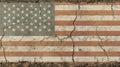 Old grunge vintage faded American US flag
