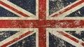 Old grunge vintage faded Britain flag