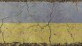 Old grunge vintage faded flag of Ukraine