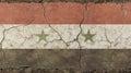 Old grunge vintage faded Syrian Arab Republic flag