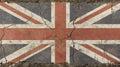 Old grunge vintage faded UK Great Britain flag