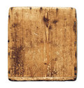 Old grunge wood board isolated on white with clipping path Royalty Free Stock Image