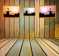 Old grunge wooden wall used as background backgrounds Royalty Free Stock Photo