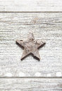 Old grungy Christmas star Royalty Free Stock Photo