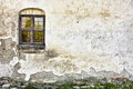 Old Grungy Wall with A Window Royalty Free Stock Photo