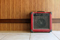 The old guitar amplifier. Royalty Free Stock Photo