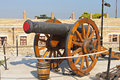 Old gun at corfu island greece the castle of in Royalty Free Stock Images