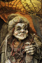 Old hag witch puppet of prague Stock Images