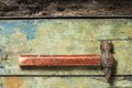 Old hammer on wood background Royalty Free Stock Photo