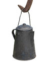 Old hanging coffee pot isolated. Stock Photo