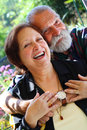 Old happy couple Royalty Free Stock Images