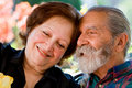 Old happy loving couple Royalty Free Stock Photo