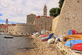 Old harbor at dubrovnik croatia balkans Royalty Free Stock Photos