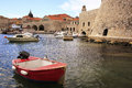 Old harbor at dubrovnik croatia balkans Stock Photos