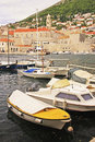 Old harbor at dubrovnik croatia balkans Royalty Free Stock Images