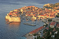 Old harbor at dubrovnik croatia balkans Stock Image