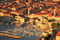 Old harbor at dubrovnik croatia balkans Royalty Free Stock Photography