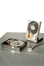 Old hard drives needing repair Royalty Free Stock Photography