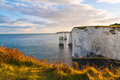 Old harry rocks dorset evening light at england uk europe Stock Photo