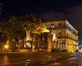 Old Havana at night Royalty Free Stock Photo