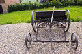 An old haymaking machine Royalty Free Stock Photo