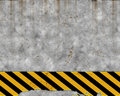 Old hazard concrete wall  Royalty Free Stock Images