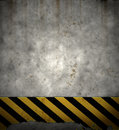 Old hazard stripes sign wall Royalty Free Stock Images