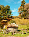Old hen house fashioned in autumn Stock Photos
