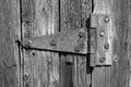 Old hinge on the barn door Royalty Free Stock Photography
