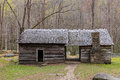 Old historic log cabins Royalty Free Stock Photo