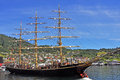 Old, historic sailing boat in Norheimsund, Norway Royalty Free Stock Photo