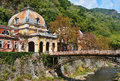 Old historic spa in baile herculane austro hungarian imperial built between years nowadays abandoned Stock Photos