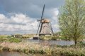 Old historic windmill in the Netherlands Royalty Free Stock Photo