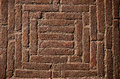 Old historical bricks floor background in india temple Royalty Free Stock Photos