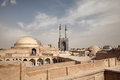 Old Historical City of Yazd with Traditional Buildings in its Skyline Royalty Free Stock Photo