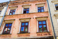 The old historical tenements at the old market square in cracow poland krakow polska Stock Image