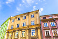 The old historical tenements at the old market square in cracow poland krakow polska Royalty Free Stock Photos